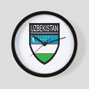 Uzbekistan Patch Wall Clock