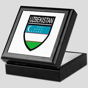 Uzbekistan Patch Keepsake Box