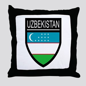 Uzbekistan Patch Throw Pillow