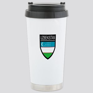 Uzbekistan Patch Stainless Steel Travel Mug
