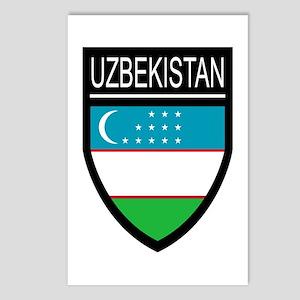 Uzbekistan Patch Postcards (Package of 8)