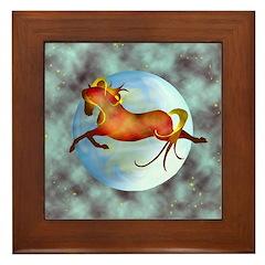 moon horse Framed Tile