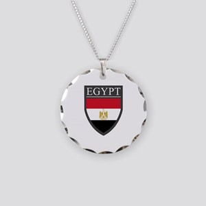 Egypt Flag Patch Necklace Circle Charm