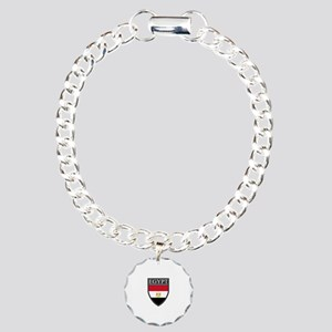 Egypt Flag Patch Charm Bracelet, One Charm