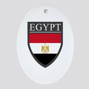 Egypt Flag Patch Ornament (Oval)