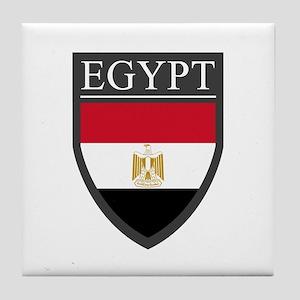 Egypt Flag Patch Tile Coaster
