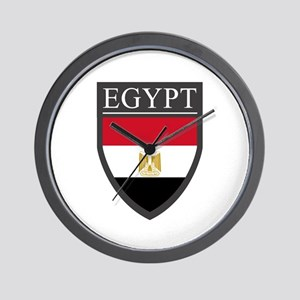 Egypt Flag Patch Wall Clock