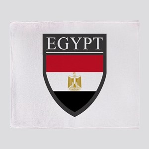 Egypt Flag Patch Throw Blanket