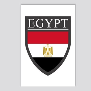 Egypt Flag Patch Postcards (Package of 8)