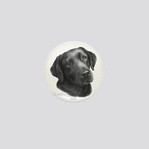Chocolate Lab Mini Button