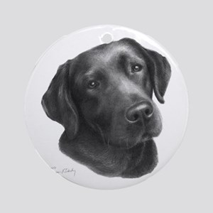 Chocolate Lab Ornament (Round)
