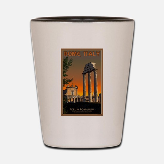 Forum Temples Shot Glass