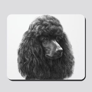 Black or Chocolate Poodle Mousepad