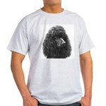 Black or Chocolate Poodle Ash Grey T-Shirt