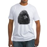 Black or Chocolate Poodle Fitted T-Shirt