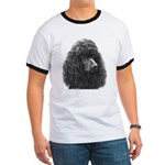 Black or Chocolate Poodle Ringer T