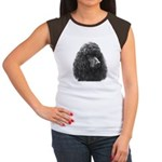 Black or Chocolate Poodle Women's Cap Sleeve T-Shi