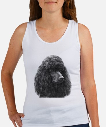 Black or Chocolate Poodle Women's Tank Top