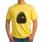 Black or Chocolate Poodle Yellow T-Shirt