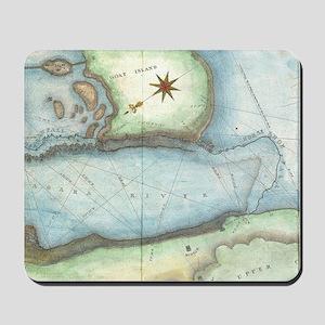 Vintage Map of Niagara Fall NY (1843) Mousepad