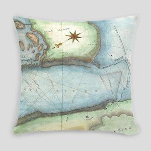 Vintage Map of Niagara Fall NY (18 Everyday Pillow