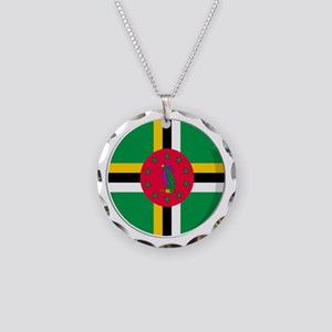 Cool Dominican flag designs Necklace Circle Charm