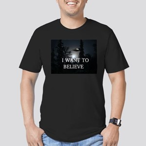 I Want to Believe Men's Fitted T-Shirt (dark)