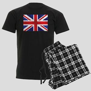 Union Jack UK Flag Men's Dark Pajamas