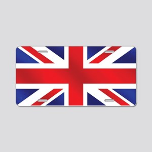 Union Jack UK Flag Aluminum License Plate