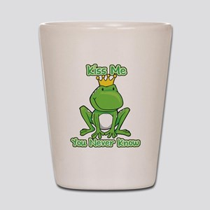 You Never Know Frog Shot Glass