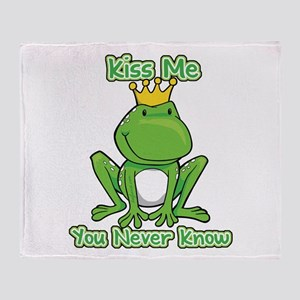 You Never Know Frog Throw Blanket