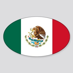 Mexican Flag Sticker (Oval)