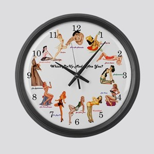 Which Pin-up Are You? Large Wall Clock