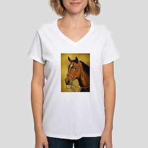 Western Horse Women's V-Neck T-Shirt