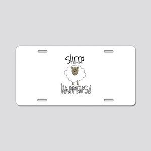 Sheep Happens Aluminum License Plate