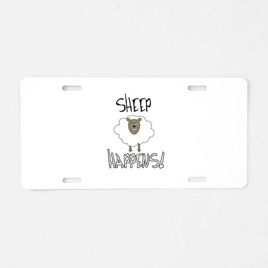 Sheep Happens Aluminum License Plate