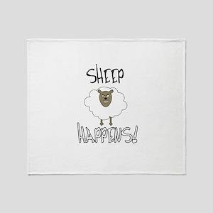 Sheep Happens Throw Blanket