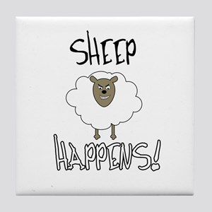 Sheep Happens Tile Coaster