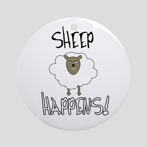 Sheep Happens Ornament (Round)
