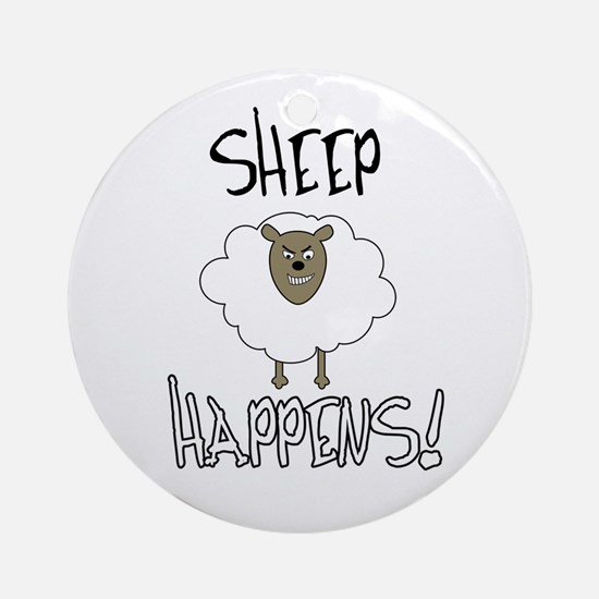 Sheep Happens Ornament (Round)