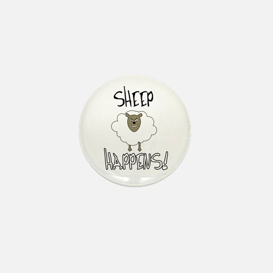 Sheep Happens Mini Button