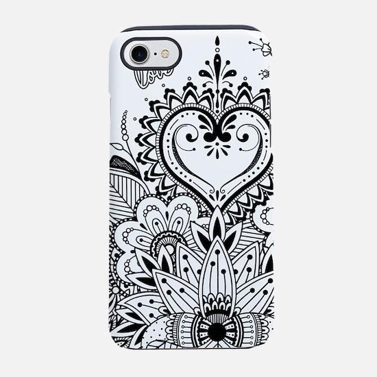 Mehndi Henna Love iPhone 7 Tough Case
