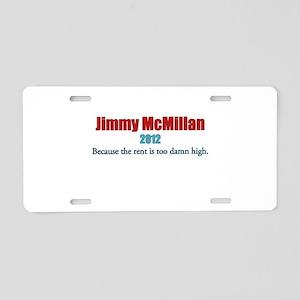 Jimmy McMIllan 2012 Aluminum License Plate
