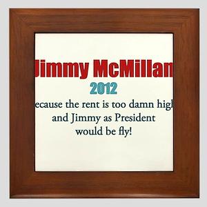 Jimmy McMillan 2012 Framed Tile