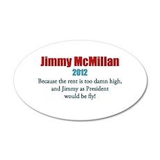 Jimmy McMillan 2012 22x14 Oval Wall Peel