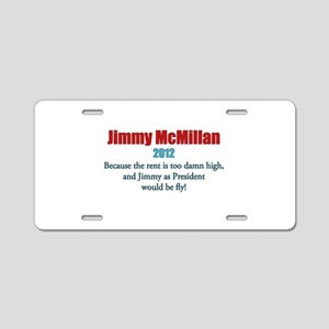 Jimmy McMillan 2012 Aluminum License Plate