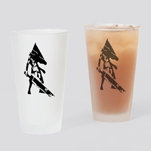 Two-Color Warrior Pint Glass