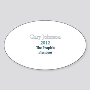 Gary Johnson 2012 Sticker (Oval)
