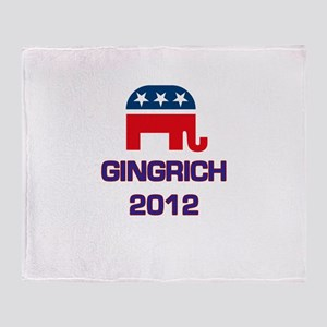 Gingrich 2012 Throw Blanket