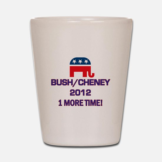 Bush Cheney 2012 Shot Glass
